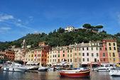 Op de weg naar portofino, ligurië, italië — Stockfoto