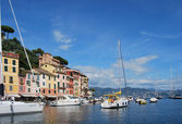 On the way to Portofino, Liguria, Italy — Stock Photo