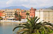 La bahía del silencio en sestri levante, italia — Foto de Stock