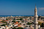 Panoramic sight of Rhodes Old town — Stock Photo