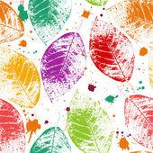 Naadloze bladeren behang — Stockvector