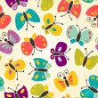 Butterfly seamless pattern — Stock Vector #12478910