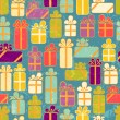 Seamless pattern with colorful gifts — Stock Vector