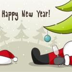 Drunk Santa Claus — Stock Vector #12738210
