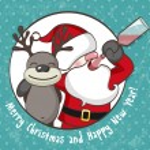 Постер, плакат: Drunk Santa Claus