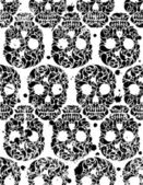 Seamless pattern with skulls — Vector de stock