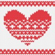 Knitted vector heart — Stock Vector