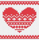 针织的矢量的心 — 图库矢量图片