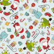 Vector de stock : Christmas seamless pattern