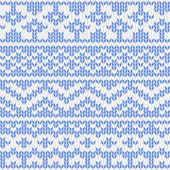 Naadloos gebreide patroon — Stockvector