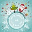 Vector Christmas card — Stock Vector