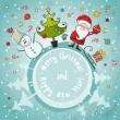 Vector Christmas card — Stock Vector