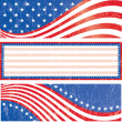 American flag stickers set — Stock Vector #16245227