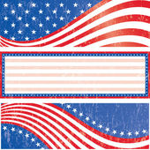 American flag stickers set — Stock Vector