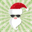 Santa in glasses with dark lenses — Stock Vector