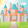 FairyTale castle illustration. - ベクター素材ストック