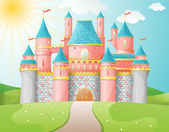 Fairytale slott illustration. — Stockvektor