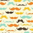 Mustache seamless pattern — Stock Vector