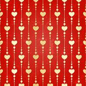 Valentine seamless hearts pattern — Stock Vector