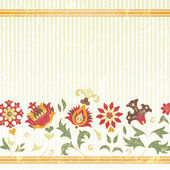 Vector background with retro flowers — Stock Vector