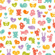Royalty-Free Stock Векторное изображение: Baby seamless wallpaper