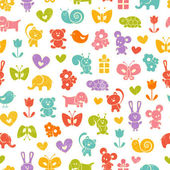 Baby seamless wallpaper — Stock Vector