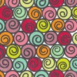 Royalty-Free Stock Imagem Vetorial: Seamless pattern with swirls