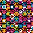 Colorful geometric pattern with hexagons — Stock Vector