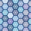 Seamless geometric pattern with snowflakes. — Stock Vector #29710805