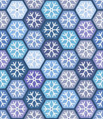 Seamless geometric pattern with snowflakes. — Stock Vector