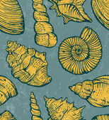 Sea shell background. — Vettoriale Stock