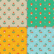 Set of seamless baby patterns. Vector EPS10. — Stock Vector