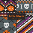 Set of seamless Halloween  patterns. — ベクター素材ストック