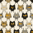 Owl seamless pattern. Vector background. — Stock Vector