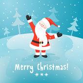 Papai noel. cartão de natal do vetor. — Vetorial Stock