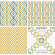 Set of vector seamless textures in retro style. — Stock Vector