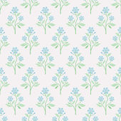 Seamless vector pattern with blue flowers — Stock Vector