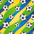 Seamless football pattern, vector background. — Stock Vector