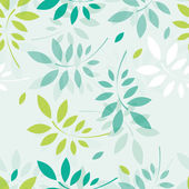 Vector spring background with branches and leaves — Stock Vector