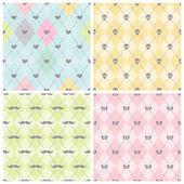 Seamless baby background collection. — Vector de stock