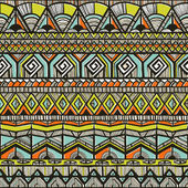 Tribal hand-drawn pattern — Stock vektor