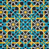 Moroccan ornament. Vector seamless background. — Stock Vector