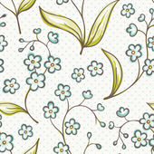 Beautiful seamless pattern with Forget-me not flowers. Vector background. — Stock Vector