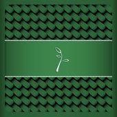 Green card with leaf tea — Stock Vector