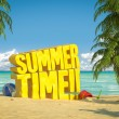 Stock Photo: Summer time tropical beach
