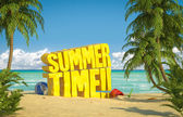 Summer time tropical beach — Stock Photo