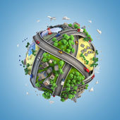 Globe concept of the world and life styles — Stock Photo