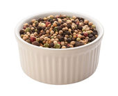 Rainbow Peppercorn Isolated clipping path — Stock Photo