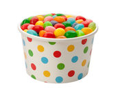 Jellybeans in a Paper Cup — Stock Photo