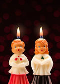 Choir Boy and Girl Candles — Stock Photo
